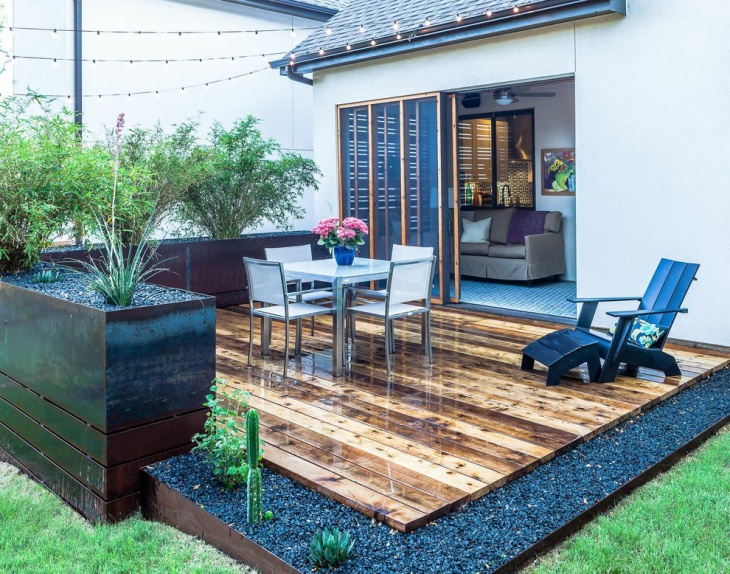 square floating deck idea
