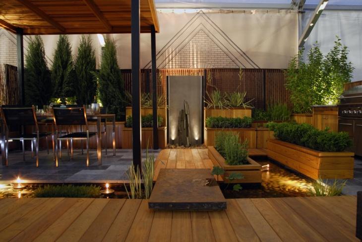 floating deck rooftop garden