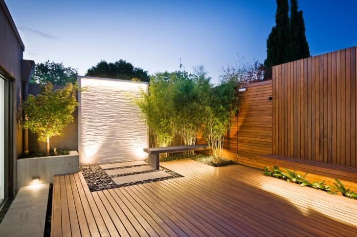 contemporary floating deck idea