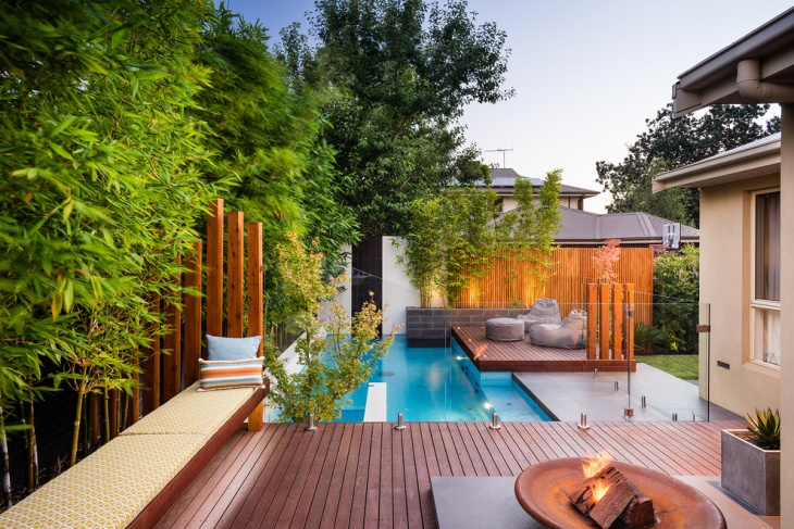 pool side floating deck idea