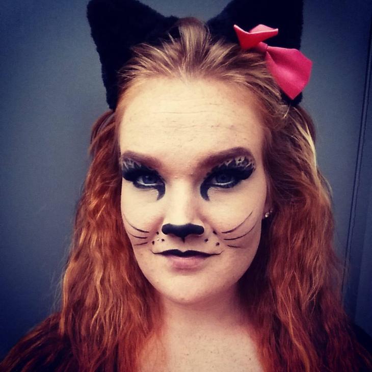 black kitty makeup