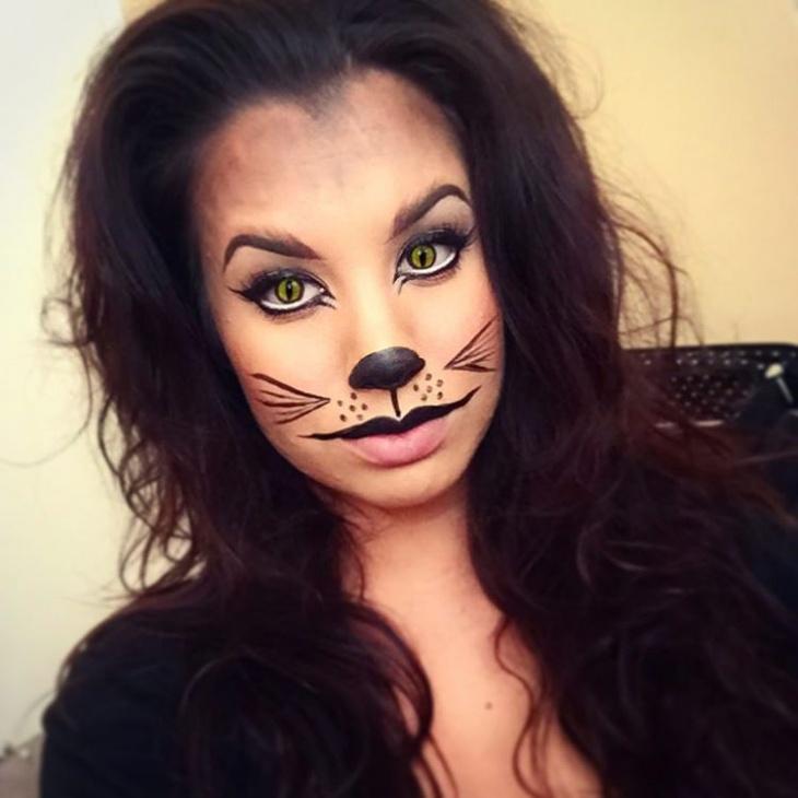 hello kitty cat eyes makeup