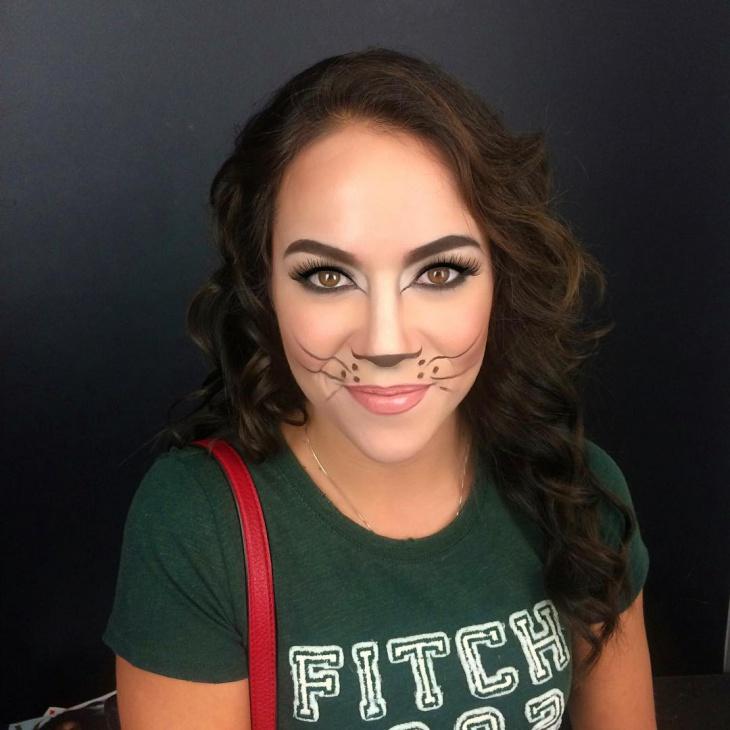 Kitty Cat Face Makeup