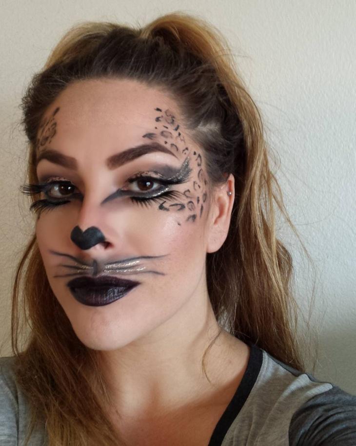 Kitty Lip and Eye Makeup