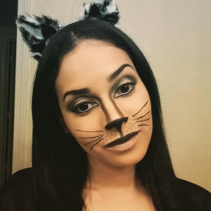 classic kitty makeup idea