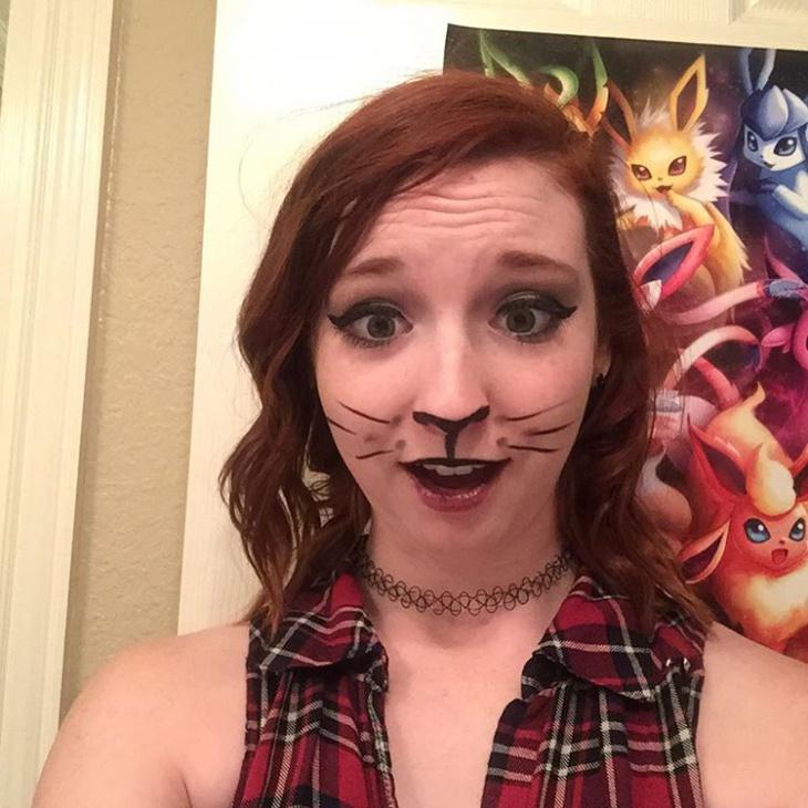 Funny Cat Makeup Idea