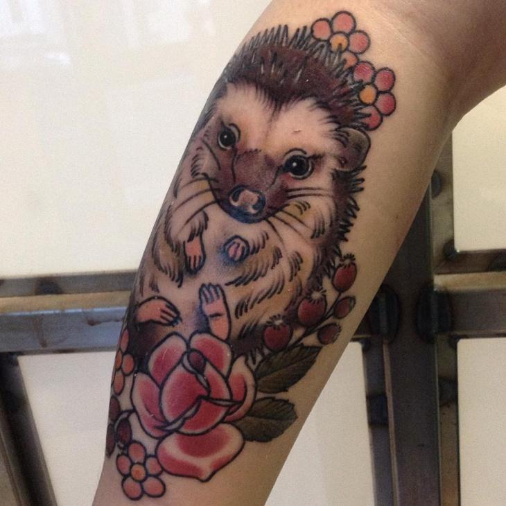 Awesome Hedgehog Tattoo Idea