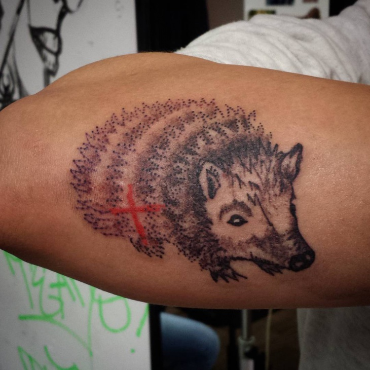 Perfect Hedgehog Tattoo Design