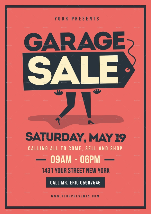Garage Sale Flyer Templates  Printable Psd Ai Vector Eps