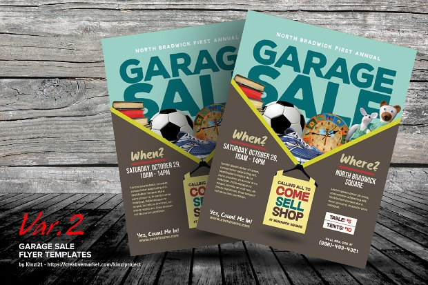 Colorful Garage Sale Flyer Templates