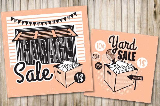 Customizable Garage Sale Flyer
