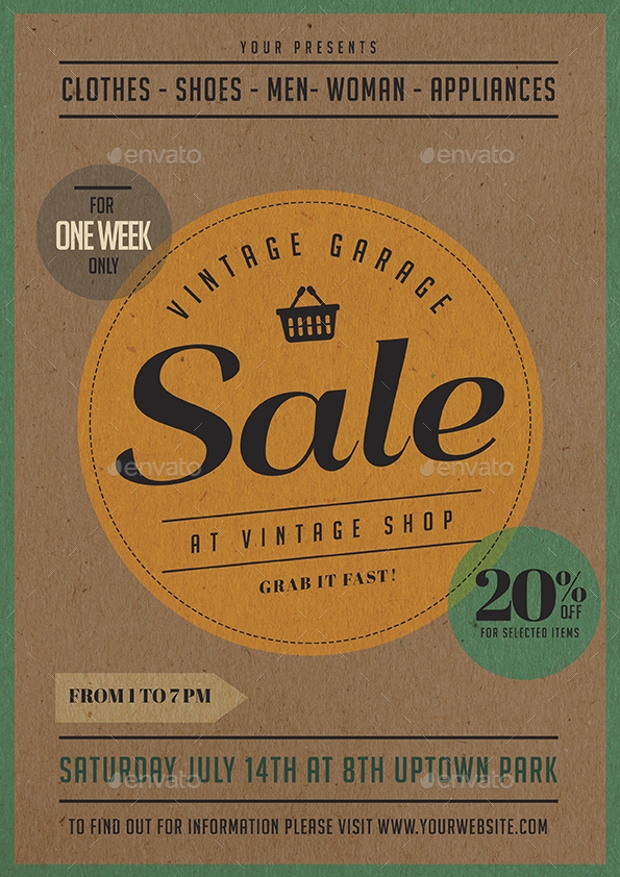 12  garage sale flyer templates