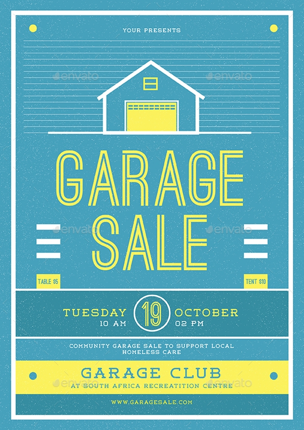 12  garage sale flyer templates