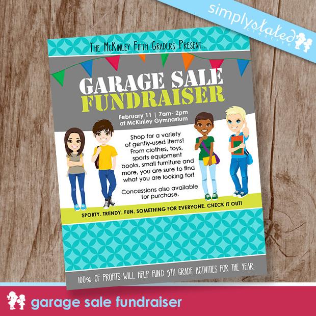 Fundraiser Garage Sale Flyer Design