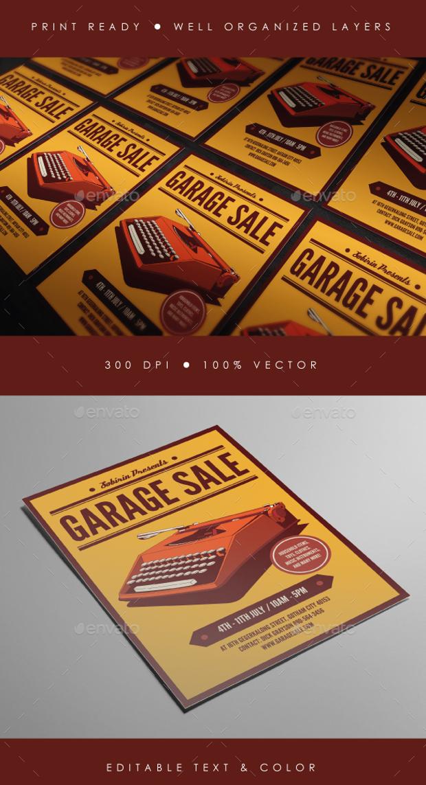 High Resolution Garage Sale Flyer