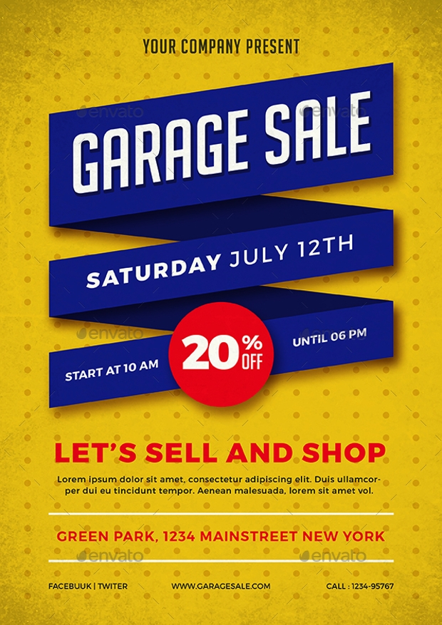 12+ Garage Sale Flyer Templates - Printable PSD, AI ...