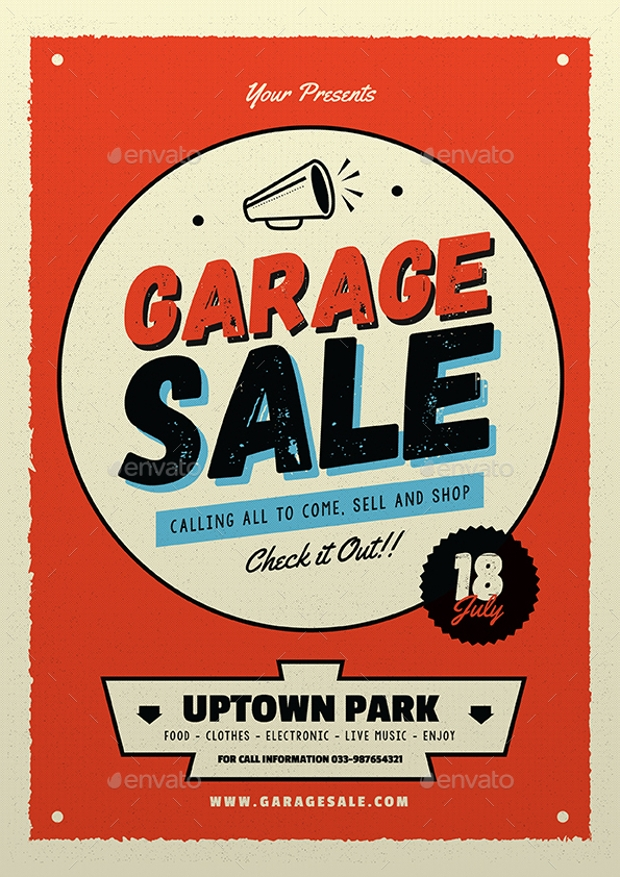 High Quality Garage Sale Flyer