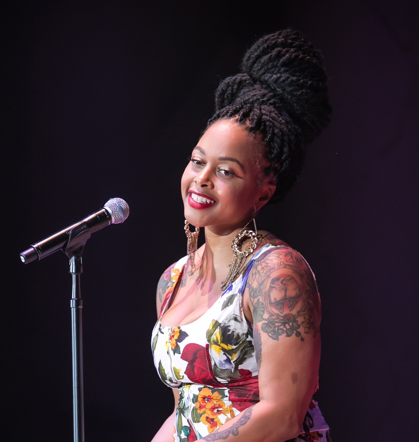 chrisette michele box braid updo for black women