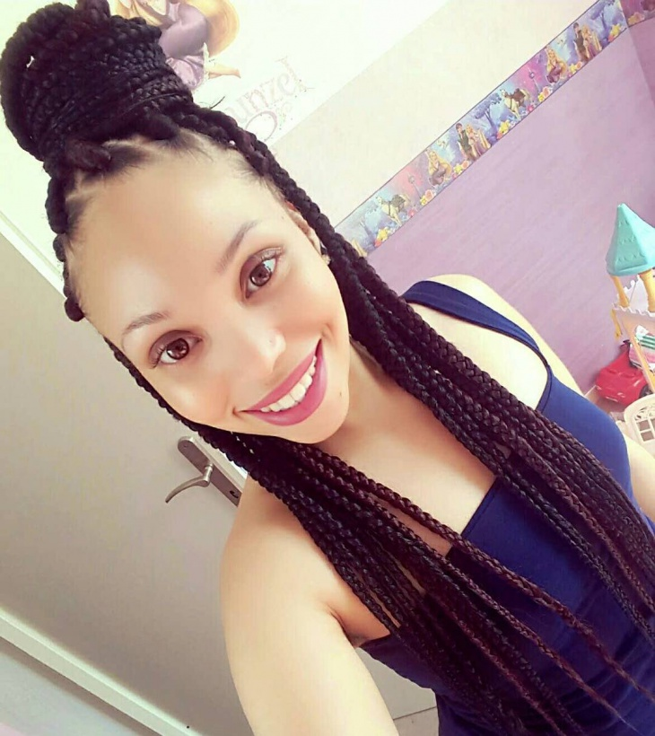 box braid hairstyle for long hair