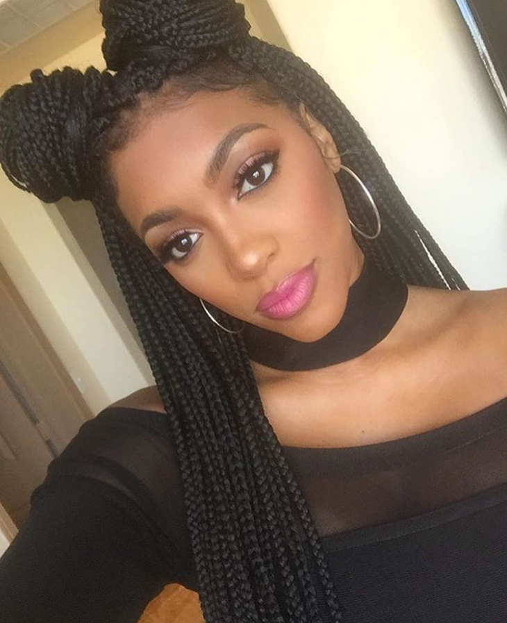 box braid twisted hairstyle