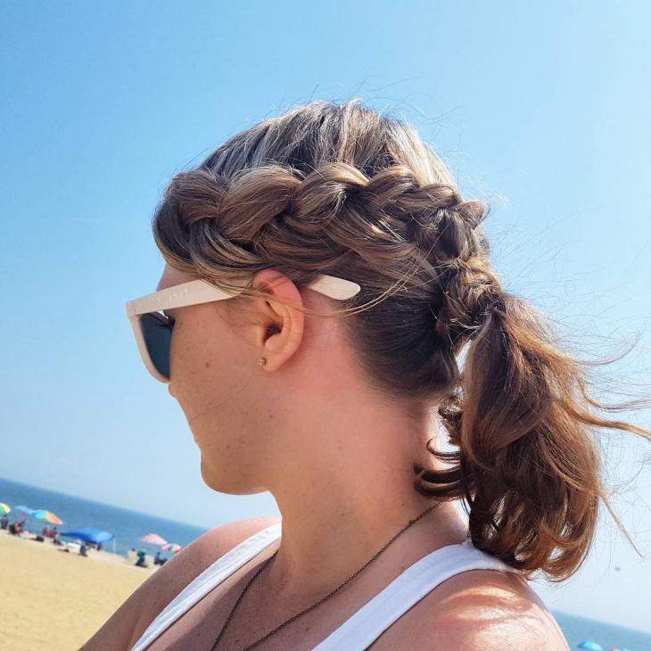 medium french braid ponytail