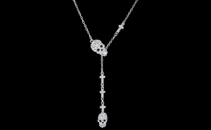 skull rhinestone necklace