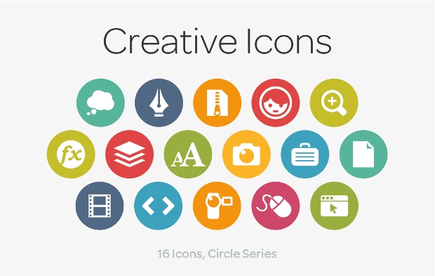 Creative Circle Icons Pack