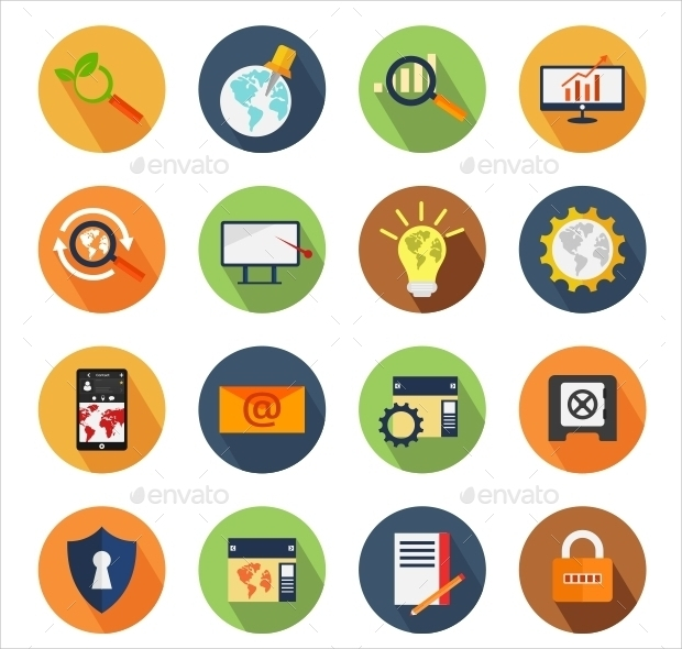 SEO Colorful Circle Icons