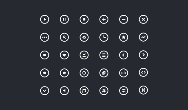 Small Circle Icon Set