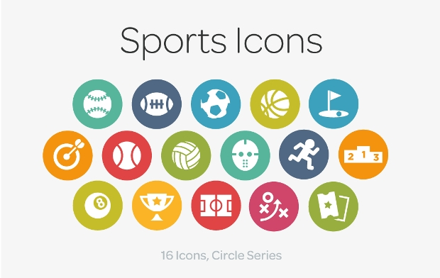 circle sport icons