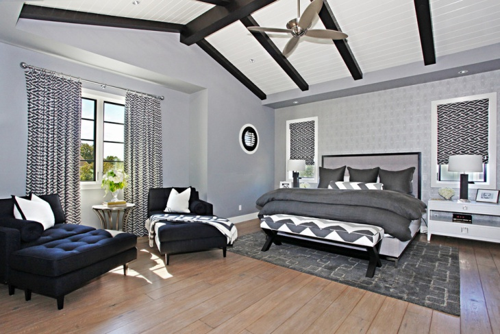 18 best gray bedroom designs ideas design trends for Black and grey bedroom ideas