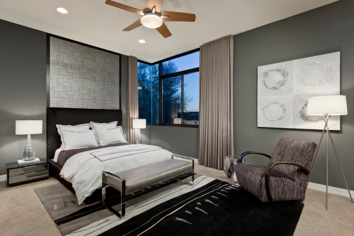 Gray Bedroom Walls Idea