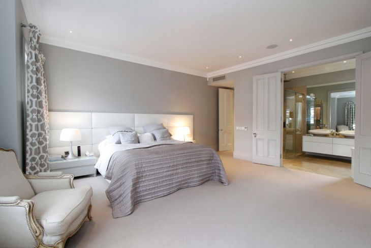 Gray Master Bedroom Design Idea