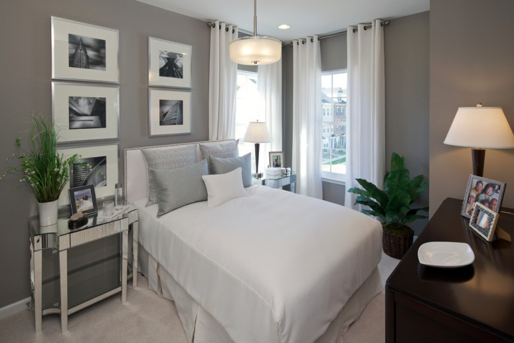 Small Gray Bedroom