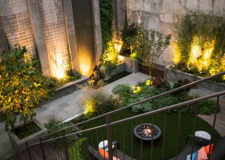 urban back garden idea