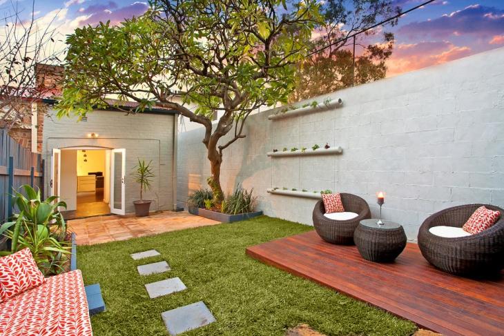 backyard urban decorative garden