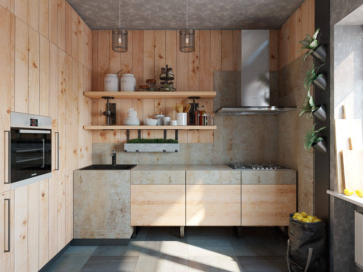 oak wood kitchen design 1