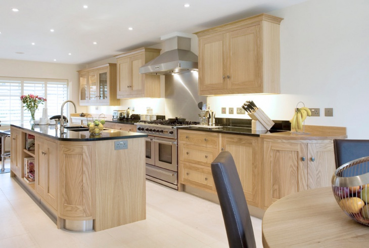 traditional oak kitchen design