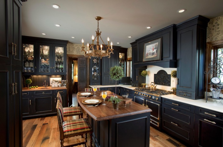 black wood kitchen design