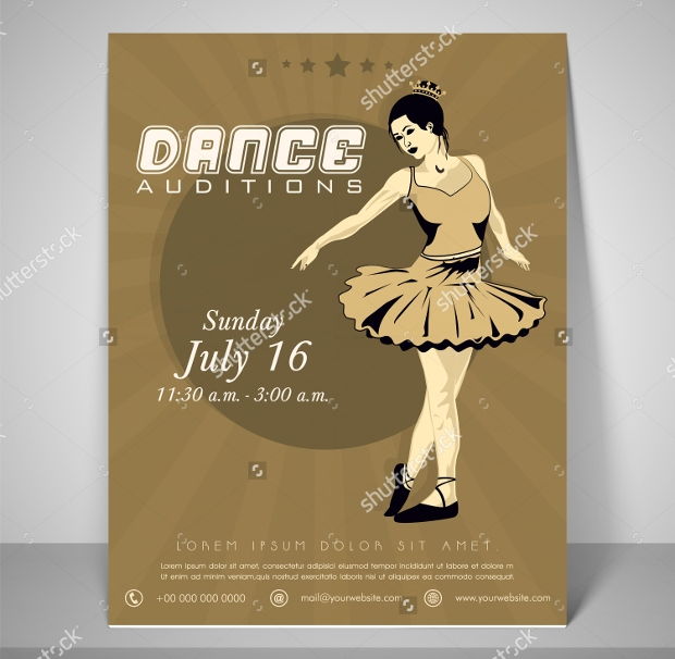 Retro Flyer for Dance Audition