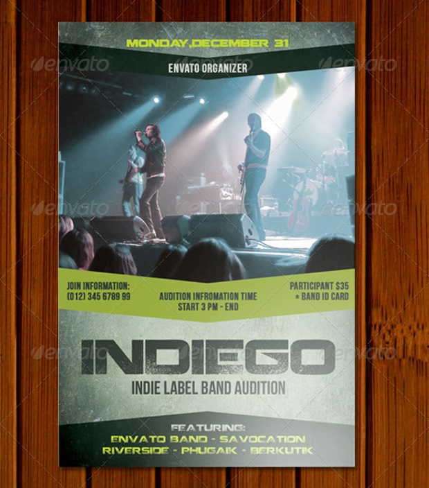 Idiego Audition Flyer