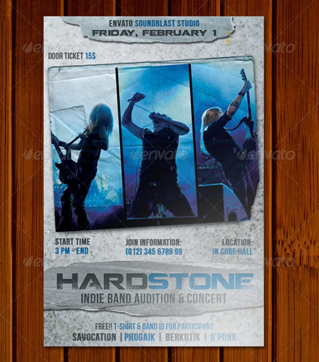 Hardstone Band Audition Flyer