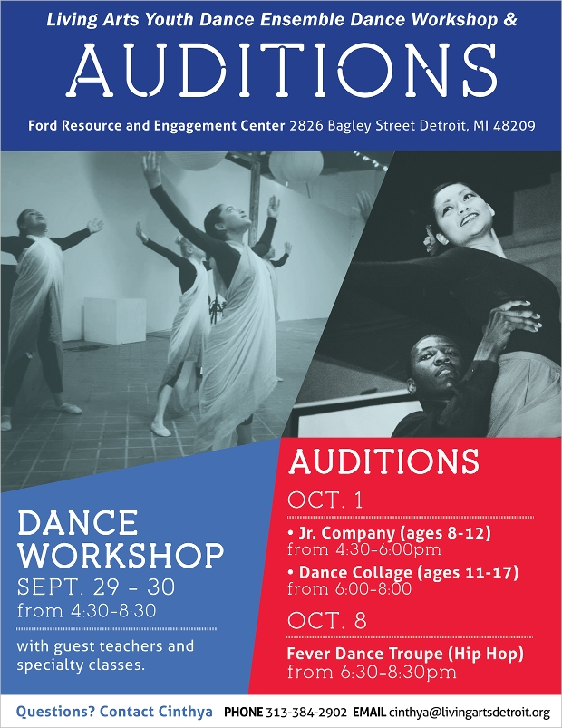 Living Arts Audition Flyer