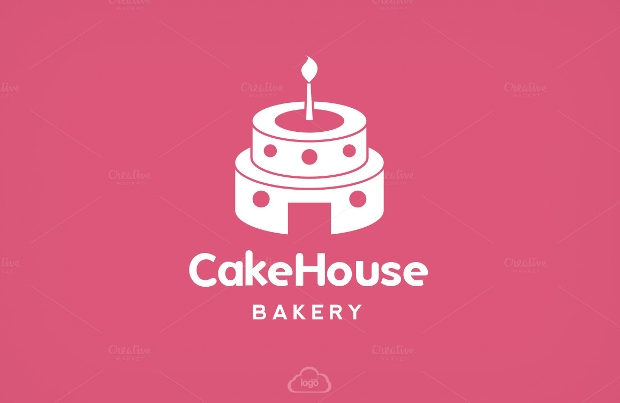 Cake House Bakery Logo Template
