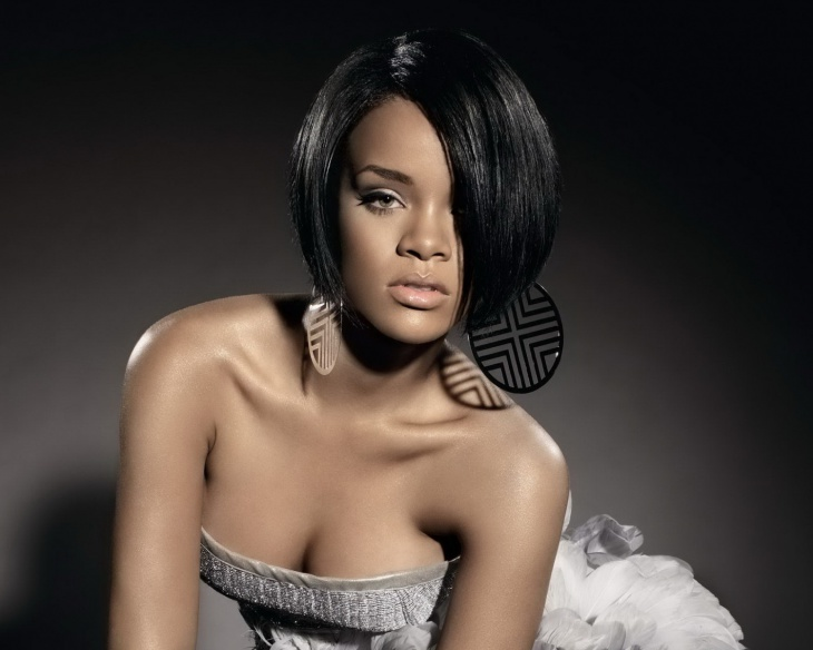 rihanna feathered bob weave hairstyle