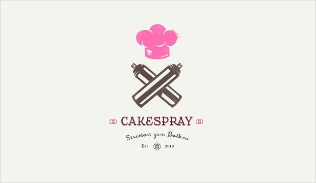 Cake Spray Logo Design
