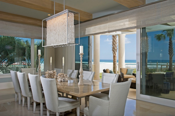 Coastal Beach House Dining Room