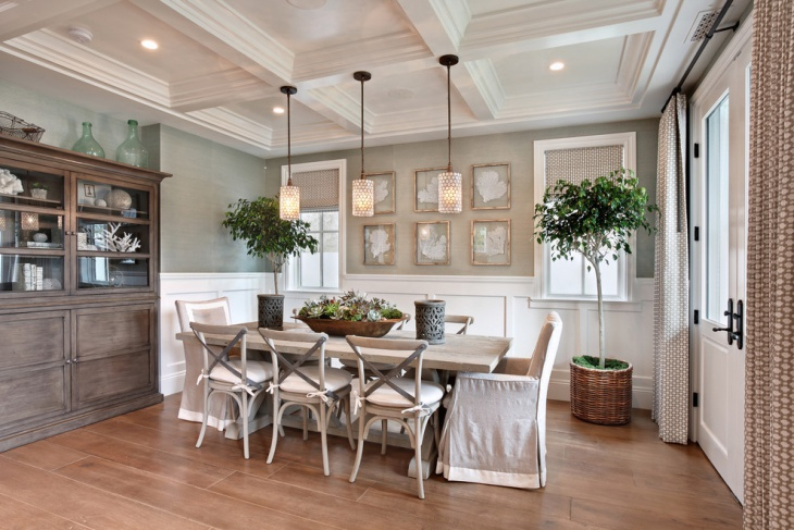 Trendy Beach House Dining Room
