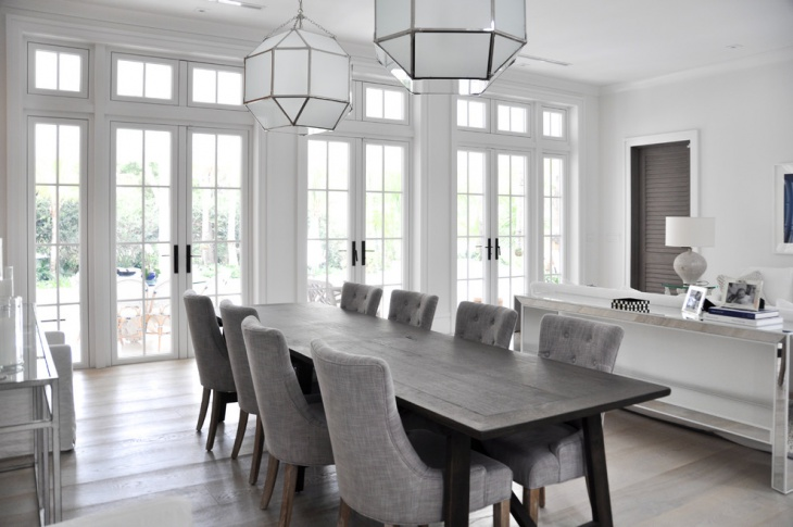 Beach House Gray Dining Room