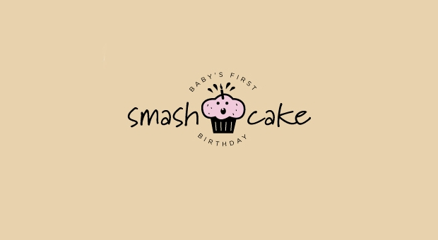 Smash Cake Logo Design